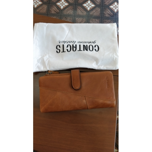 f2120975d2407 لاوشيزى للرجال حقائب جلد البقر دفتر شيكات محفظة   أضعاف الصلبة بلون أسود    القهوة ...