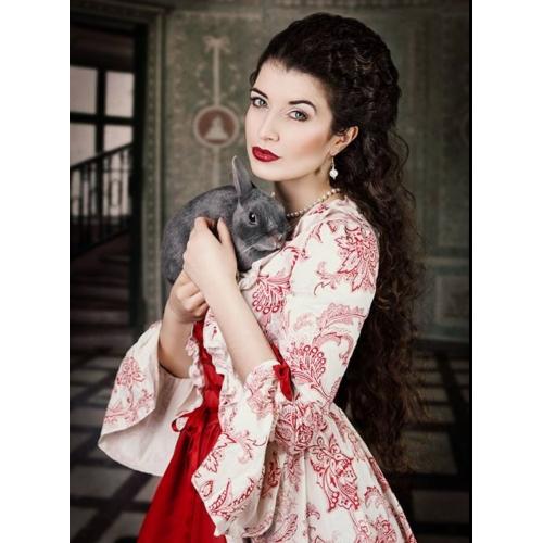62b15a9d938e Vintage Rococo Viktoria Tarzı Kostým Dámské Šaty Kostým na Večírek Maškarní  Plesové Červená Retro Cosplay Krajka