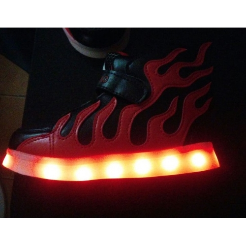 ea5ae15e1 للصبيان أحذية تول الربيع مريح / نعال خفيفة / أحذية مضيئة أحذية رياضية LED  إلى أسود ...