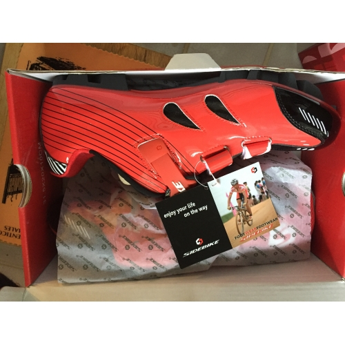 c0ee7dbb ... SIDEBIKE Adulto Calzado para Mountain Bike Fibra de Carbono  Amortización Ciclismo Rojo negro Hombre Zapatillas Carretera