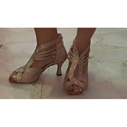 998de816b92 ... Mujer Zapatos de Baile Latino   Zapatos de Salsa Brillantina Sandalia    Tacones Alto Pedrería ...