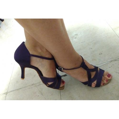 Baile Alto De Tacones Mujer Latino Zapatos Tacón Salón Satén WIYHDeE29