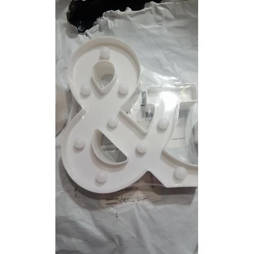 957b76b84 ... 1PC 26 حرف الأبجدية الصمام ليلة الخفيفة مدعوم بالبطاريات خلاق / زفاف /  الديكور