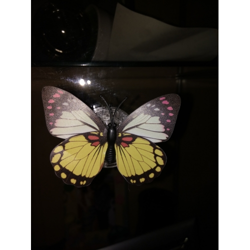 Colorful Led Light Night Atmosphere Lamp With Changing Butterfly Indoor Light With Suction Pad Home Party Desk Wall Decor Led Night Lights