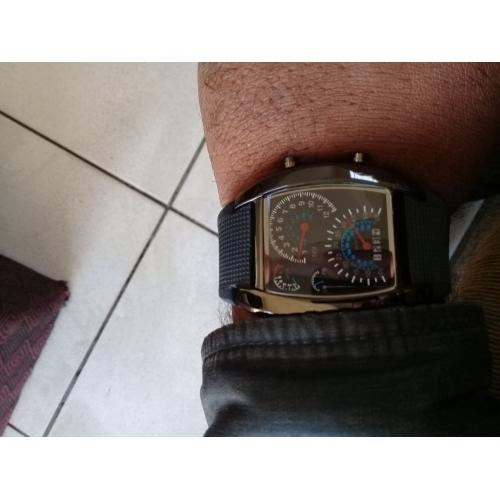 3ad827c39c6 Homens Relógio de Pulso Relogio digital Digital Borracha Preta Calendário  Criativo Digital Azul Escuro Marron Azul