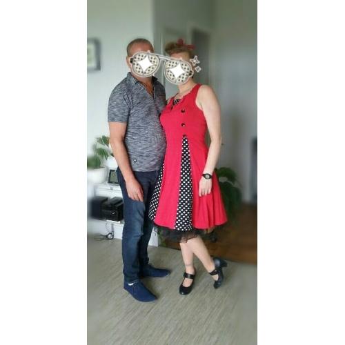 Per donna Taglie forti Per eventi Per uscire Vintage Stile anni  50 Linea A  Vestito 83f8cf6cf14