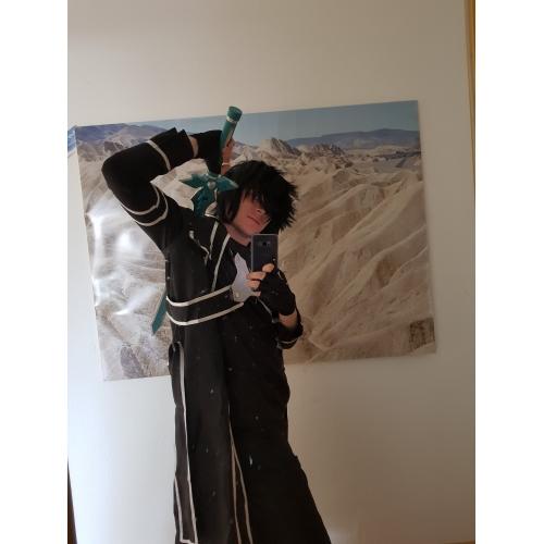 7d81d0cd5619 ... Inspirerad av Alicization Kirito Animé Cosplay-kostymer cosplay Suits  Enfärgad Långärmad Kappa / Byxor ...