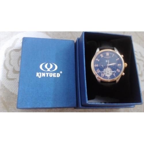 3c3972621 ... KINYUED Pánské Hodinky s lebkou Náramkové hodinky mechanické hodinky  japonština Automatické natahování Kůže Černá / Hnědá