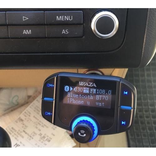 WAZA Wireless Hands-free Bluetooth 4 2 Car Kit FM Transmitter MP3