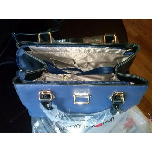 25ae96432e2 ... Γυναικεία Τσάντες PU Τσάντα ώμου / Φερμουάρ Βολάν Μονόχρωμο Σκούρο μπλε  / Φούξια / Κρασί