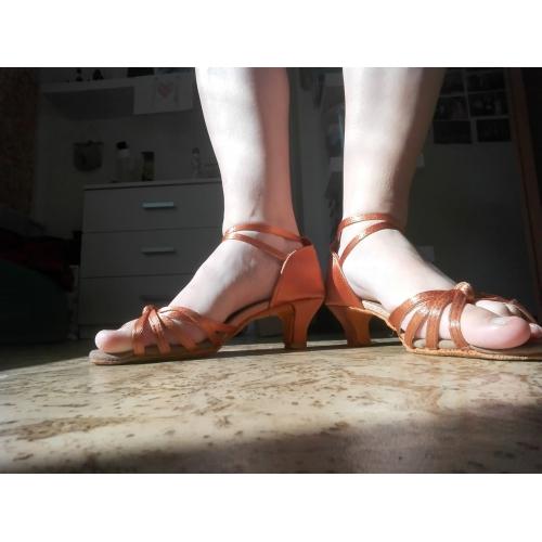 cfdf3a383 ... SUN LISA® Women's Latin Shoes / Salsa Shoes Satin Sandal Buckle  Customized Heel