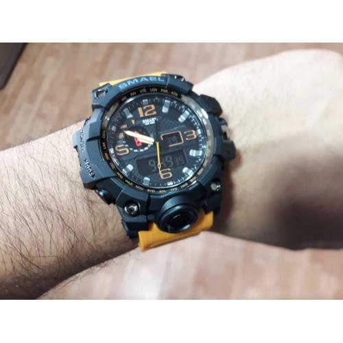 1c233e549 SMAEL رجالي ساعة رياضية ساعة عسكرية ساعه اسورة رقمي جلد اصطناعي أسود / أزرق  / أحمر