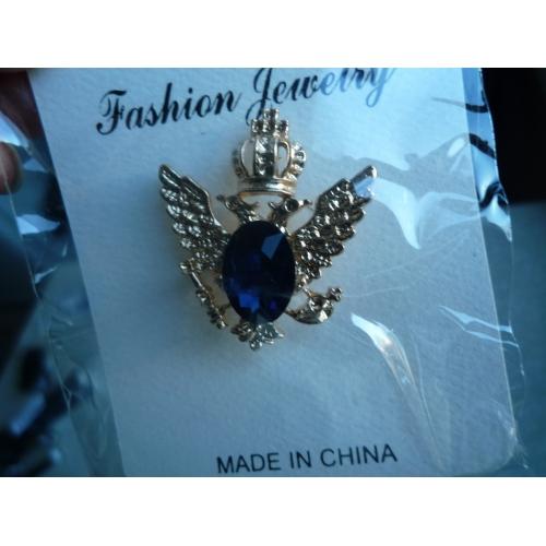 644b586f1f Pánské Kubický zirkon Retro Stylové Brože Módní Elegantní Bristké Brož  Šperky Černá Modrá Pro Svatební Dovolená