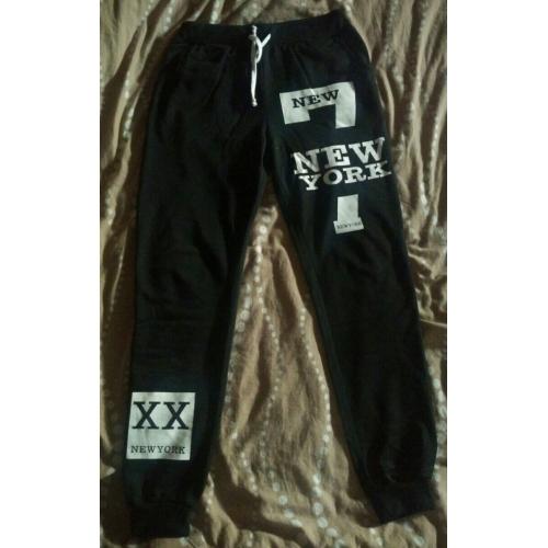 29218165c Hombre Activo   Básico Algodón Corte Ancho Pantalones de Deporte Pantalones  - Letra Negro   Rojo