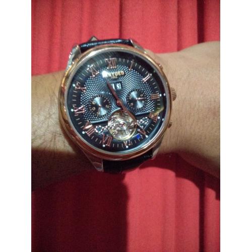dd5da949c KINYUED Pánské Hodinky s lebkou Náramkové hodinky mechanické hodinky  japonština Automatické natahování Kůže Černá / Hnědá ...