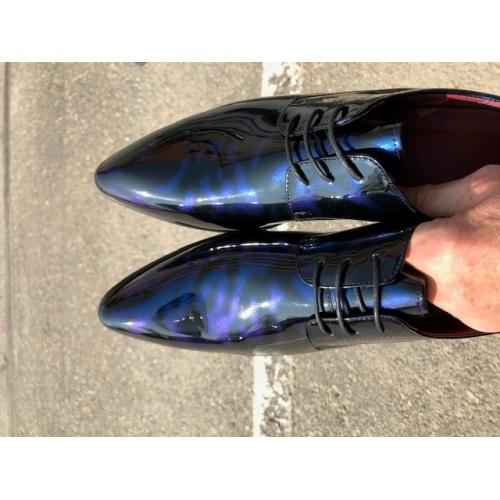 e5eee2237 رجالي طباعة أوكسفورد جلد محفوظ الخريف / الشتاء أوكسفورد أسود / أزرق البحرية  / بورجوندي /