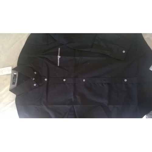 3ab1106f9e79 Homens Tamanhos Grandes Camisa Social - Trabalho Negócio Básico, Sólido  Colarinho Clássico Delgado Branco /