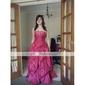 rochie de bal fara bretele, etaj-lungime aplicatiile de tafta bal / rochie de seară