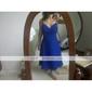 Linia -A Bretele Spagheti Lungime Genunchi Șifon Rochie Domnișoară Onoare cu Cruce Ruching de TS Couture®