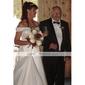 Linia -A Prințesă În V Halter Lungime Genunchi Tafta Rochie Domnișoară Onoare cu Drapat Părți Volane de LAN TING BRIDE®