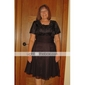 o linie v-gât genunchi t-shirt dantelă domnișoara de onoare sifon / mama a rochiei de mireasa