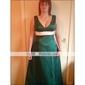o linie v-gât podea-lungime satin domnișoara de onoare / rochii de mireasa partid (hsx173)