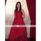 mingea rochie drăguță podea-lungime tafta bal / rochie de seară (hsx812)