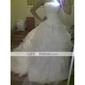 mingea rochie fara bretele Capela de tren satin organza rochie de mireasa (wsm04236)