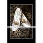 satin övre mellanprissegmentet häl slutna-tår med rhinestone skor bröllop brud. fler färger