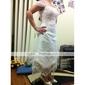Coloană / Teacă Asimetric Tulle Rochie de mireasă cu Mărgele Dantelă Brodat de LAN TING BRIDE®