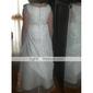 A-line podea lungime floare fata rochie - organza fără mâneci gât scoop de lan ting bride®