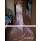 elastic țesute satin trompeta / Mermaid o rochie de seară umăr inspirat de Sigourney Weaver la premiul Emmy