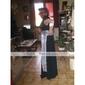 Coloană / Teacă Gât V Lungime Podea Șifon Paiete Seară Formală Bal Militar Rochie cu Mărgele Cruce Volane de TS Couture®