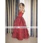 Rochie de bal pentru podea lungime floare fată rochie - satin fără mâneci spaghete curele de lan ting bride®