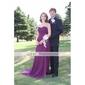 Teacă / coloană dragoste dragă mată / perie tren chiffon rochie de bal cu aplicații de ts couture®