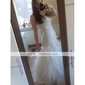 Trompetă / Sirenă Fără Bretele Trenă Court Tulle Bal Seară Formală Rochie cu Cruce Ruching Voaluri Cascadă de TS Couture®