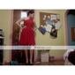 Coloană / Teacă Pe Umăr Lungime Genunchi Șifon Rochie Domnișoară Onoare cu Drapat Părți Pliuri de LAN TING BRIDE®