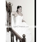 Baljurk Strapless Tot de knie Satijn Bruidsmeisjesjurk met Strik(ken) Pick-up rok Sjerp / Lint door LAN TING BRIDE®