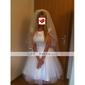 Voal de Nuntă Două Straturi Voaluri Lungime Până la Vârfurile Degetelor Voaluri pentru Păr Scurt Margine panglică 37.4 in (95cm) TulAlb