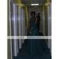 Linia -A In Formă de Inimă Trenă Court Șifon Seară Formală Rochie cu Cruce Pliuri de TS Couture®