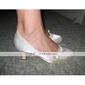satin superior mijlocul toc închis degetele de la picioare seara pantofi de partid / speciale de culori shoes.more ocazie disponibile