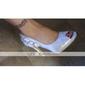 satin superioare stilet toc peep toe / pompe cu stras / satin flori pantofi de mireasa de nunta
