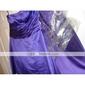 Linia -A Fără Bretele Lungime Genunchi Satin Petrecere Cocktail Concediu Rochie cu Ruching de TS Couture®