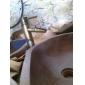 Art Deco/Retro Bazin Cascadă Valvă Ceramică O gaură Singur mâner o gaura Alamă Antichizată , Baie Chiuveta Robinet