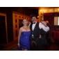 Teaca / coloana fara bretele iubita podea lunga asimetrica sifon rochie de seara cu draperii laterale de ts couture®
