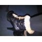 konstläder övre stilettklack päls boots part skor fler färger