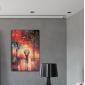 HANDMÅLAD Abstrakt / Landskap En panel Kanvas Hang målad oljemålning For Hem-dekoration