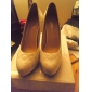 Sheepskin Upper High Heel Closed-toes Shoes