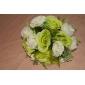Flori de Nuntă Rotund Trandafiri Buchete Nuntă Petrecere / Seară Satin Verde 9.84