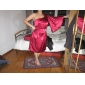 teacă / coloană o lungime genunchi umăr charmeuse rochie de domnisoara de onoare cu fete de draperie draping de lan ting bride®
